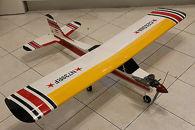 Seagull Models CESSNA Nitro Trainer RC Plane ASP-40 Engine & Servos