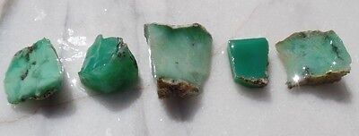 70g Australian CHRYSOPRASE mineral specimens collection lapidary rough lot EB11