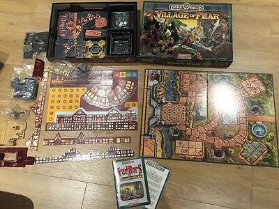 Waddingtons Dark World Village of Fear Fantasy Board Game - CARDED/SEALED BAGS..