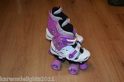 Roller Skates adustable quads boots size UK 10-12 28-31  fast postage