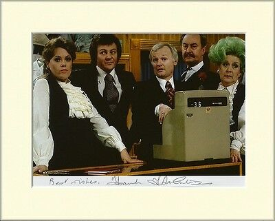 FRANK THORNTON ARE YOU BEING SERVED PP 8x10 MOUNTED SIGNED AUTOGRAPH PHOTO