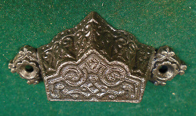 Beautiful Vintage Eastlake Drawer Pull - Cast Steel  (6891-B)