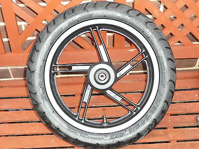 Honda  Pcx 125 Front Wheel & Used Tyre Black  44650-Kwn-711 All Years.
