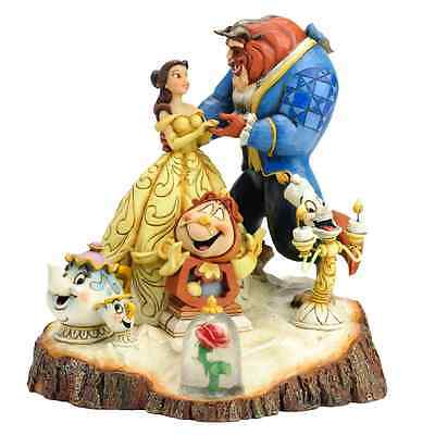 NEW Disney Traditions Carved by Heart Beauty and Beast Figurine