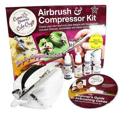 NEW Cassie Brown Cake Craft Cake Decorating Airbrush and Compressor Kit