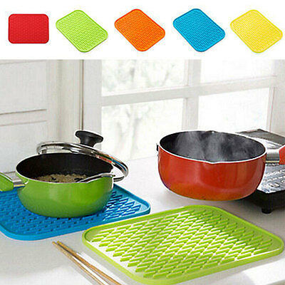 Silicone Nonslip Heat-Resistant Pot Bowl Oven Table Mat Trivet Tray Holder