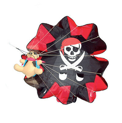 Parachute Pirate Ted Teddy Bear Kite With Line by Spirit of Air 100cm Wingspan