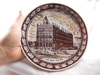 Vintage 1976 100th Anniversary Plate J.M. Sealts, Lima Ohio Grocery China Plate