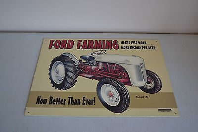"""Used Ford Farming Tractor Better Than Ever 11.5""""x16"""" Metal/tin Sign Model 8N"""