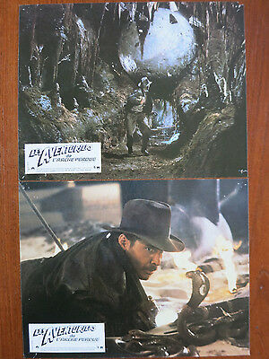 RAIDERS OF THE LOST ARK (1981) 12 Original French Lobby Cards Harrison Ford