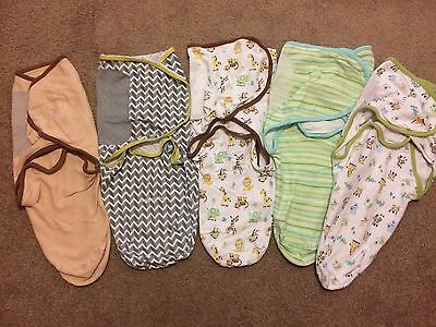 4x Baby Swaddle Me Swaddles Size small / medium 0-4 Months