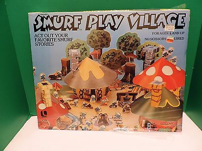 Vintage Smurf Play Village Unplayed With-Buy it Now