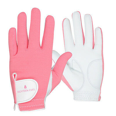Ladies Golf Glove - Cabretta Leather Pretty in Pink Available in Left or Righ...