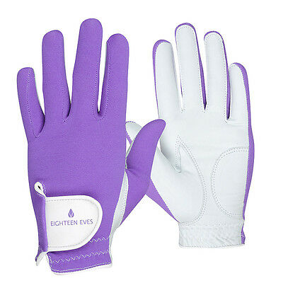 Ladies Golf Glove - Cabretta Leather Perfectly Playful Purple Available in Le...