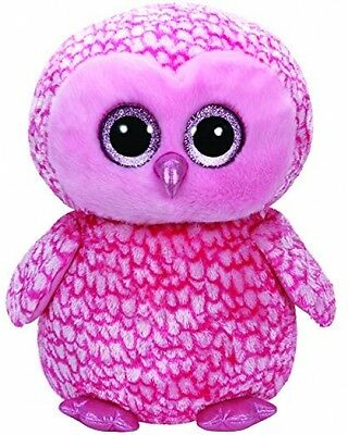 Large Plush TY36608 - TY Beanie boo' S - Pinky The Owl