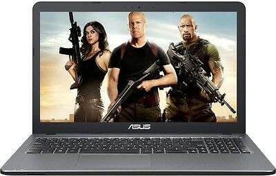 "ASUS 15.6"" Laptop Intel Pentium 2.56GHz 4GB 1TB DVD+RW WebCam WiFi BT Windows 10"