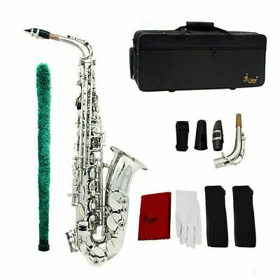 New Professional Eb Alto Sax Saxophone Paint Gold with Case and Accessories @BP
