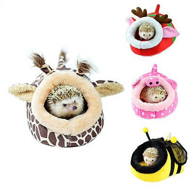 Small Animal Hamster Rat Hedgehog Squirrel House Bed Nest With Pad For Cage New