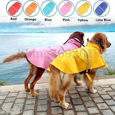 Dog Rain Coat Pet Jacket Puppy Outdoor Hooded Raincoat Clothes Waterproof XS-XXL