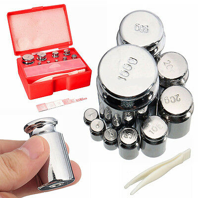 17Pcs 211.1g 10mg-100g Grams Precision Calibration Jewelry Scale Weight Set Kit