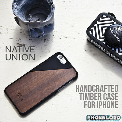 Native Union Genuine Clic Wooden Case for iPhone 6/6S Timber wood case BLACK