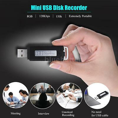 SK-868 8GB Portable USB Disk Audio Voice Recorder for Interview Lecture K8K4