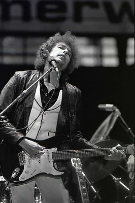 Bob Dylan Glossy Black and White Photo Music Concert Print Picture A4