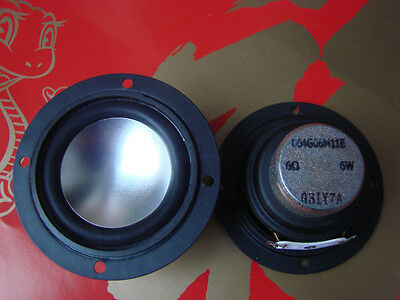 2pcs 6ohm 6Ω 6W Full Range Audio Speaker Stereo Woofer Loudspeaker
