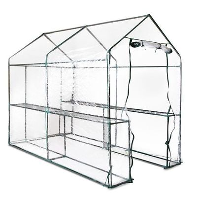 Greenhouse with Transparent PVC Cover 1.9M x 1.2M