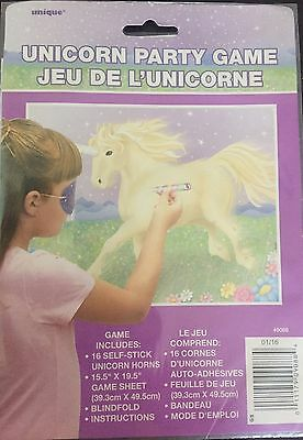 Pin / Stick the Horn on The Unicorn Childrens Birthday Party Game