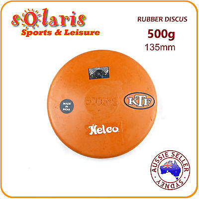 500g NELCO Rubber Compound Discus School Athletics Training Throw Implement