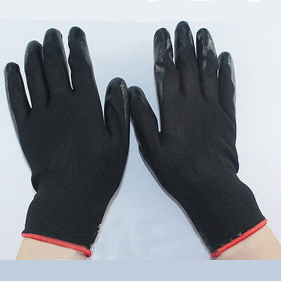 Black Garden Auto Functional Anti-Slip Safety Outdoor Work Protection Gloves