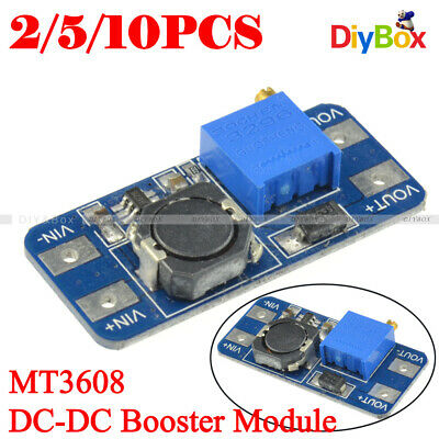 1/2/5/10PCS MT3608 2A DC-DC Step Up Power Supply Module Booster Module F Arduino