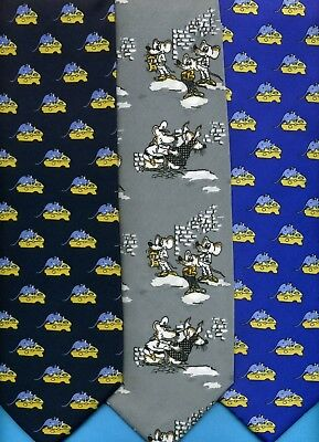 FREE P&P* Cops & Robbers Mice Rodent Mouse Novelty Fun Tie      #2347