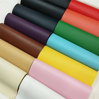 Solid Lichee Faux Leather Material PVC Vinyl Uphplstery Bag Crafts Fabric Sewing