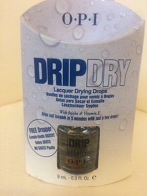 NEW OPI DRIP DRY LACQUER POLISH NAIL DRYING DROPS  0.3 Oz FULL SIZE WITH DROPPER