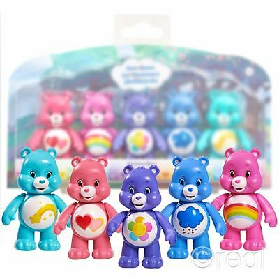 New Care Bears 5 Figure Pack Cheer Harmony Grumpy Love-a-Lot & Wish Official