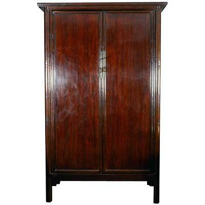 A Tall Mahogany Chinese Cabinet or Armoire