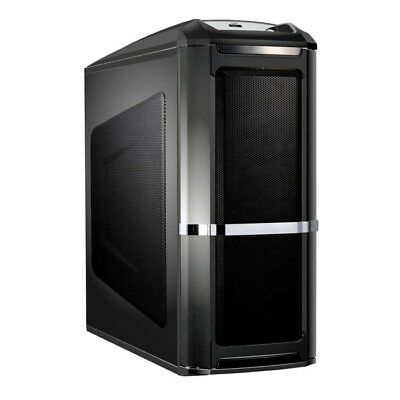 Compucase 6XR9 Xtreme Black Midi Tower Gaming Case - e-SATA and Firewire Support