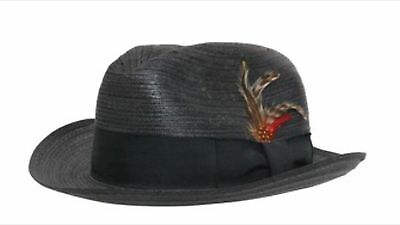 "1976 ""Rocky"" Screen-Worn Black Straw Fedora !!  Greyflannel Authenticated !!!"