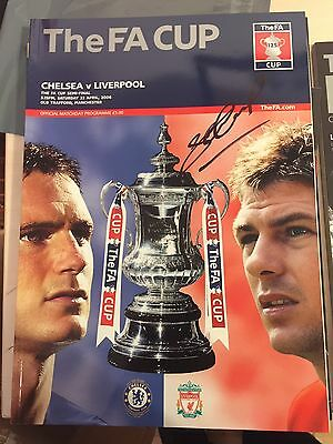 STEVEN GERRARD signed famous semi final v chelsea prog Now £45 signed 7-12-16