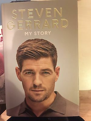 STEVEN GERRARD SIGNED  MY STORY Hardback copy Now £40