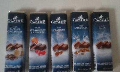 Cavalier 5 Bar No Sugar Added Diabetic Inulin Low Carb Belgian Chocolate   Diet