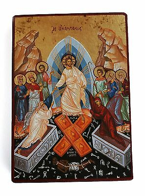 Greek Russian Orthodox Lithography Icon Resurrection of Christ 19x13cm