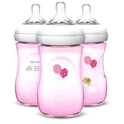 Philips Avent Natural Bottle, Pink - 9oz (3pk) - Free 2 Day Shipping