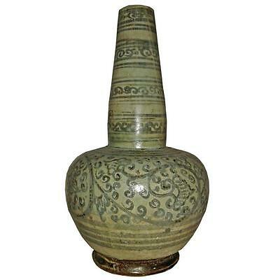 Long Neck Ceramic Vase from Thailand