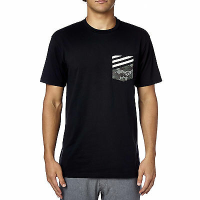 Fox Racing Mens Black/White Smash UP Pocket T-Shirt Tee Shirt
