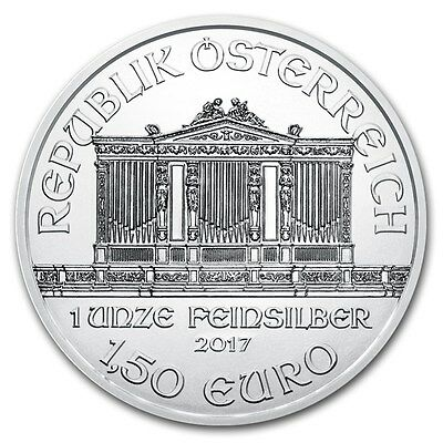2017 Austrian Philharmonic 1 oz .999 Silver BU Round Very Limited Bullion Coin