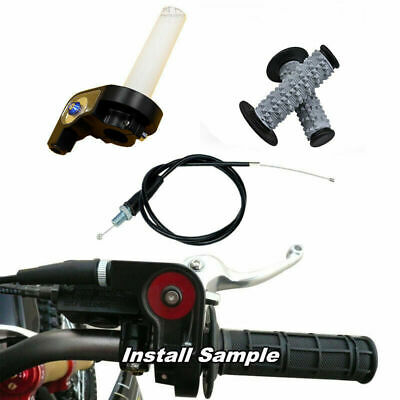 """Handle Grip with 1/4 Quick Turn Throttle Dirt Pit Bike 7/8"""" Hand Grips AU"""