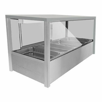 Countertop Hot Bain Marie Display, Square Heated Food Unit, 6x 1/2 GN Pans